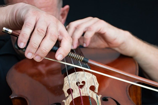 Recording Studio Cello Bow Cellist  - Ri_Ya / Pixabay